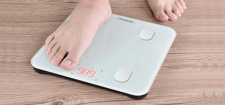 bascula digital para medir la grasa corporal y el agua