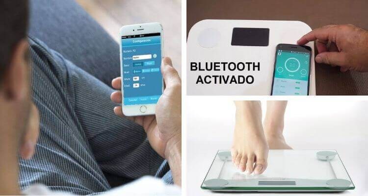 bascula con bluetooth inteligente